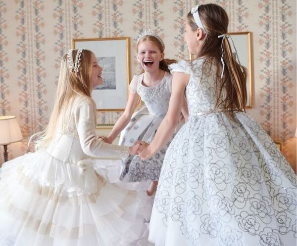 Silk flounces Greta dress