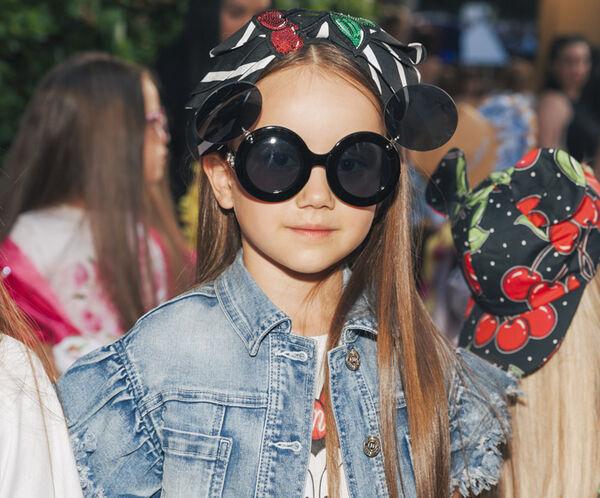 Double-lens girl glasses
