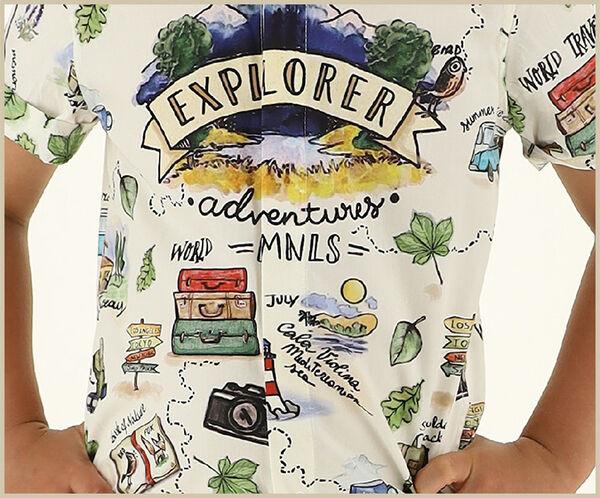 Poplin shirt for boys
