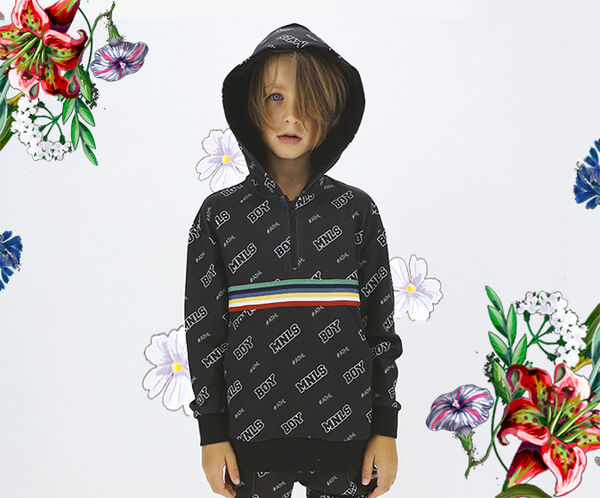 Boy's over sized acetate MNLS sweatshirt