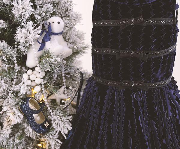 Velvet and rhinestones dress