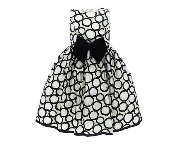 Polka dot damask dress