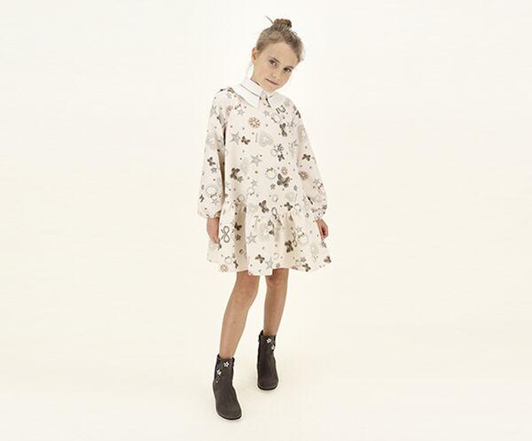 Cady dress with jewels print