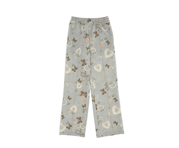 Cady trousers with jewels print