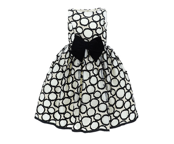 水玉のダマスク織ドレス