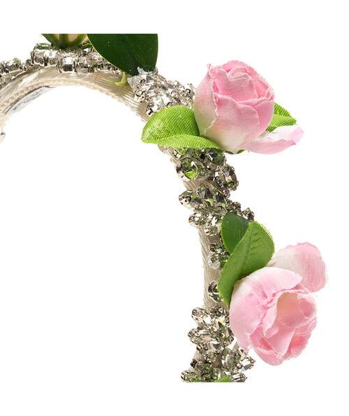Ободок с розами и стразами