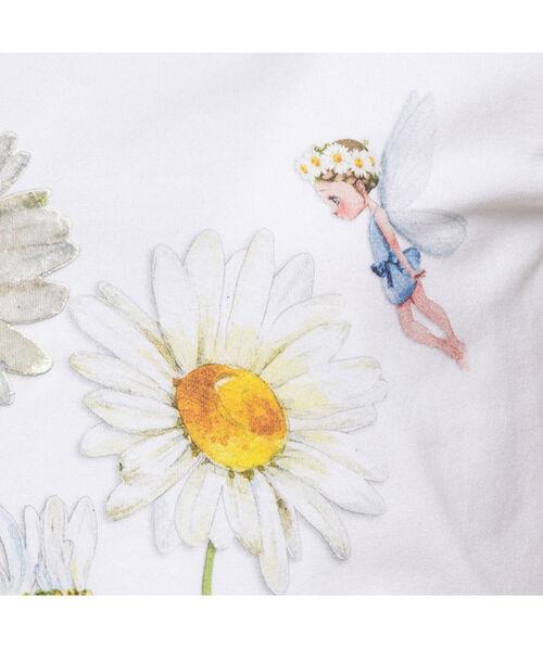 Длинная футболка с принтом «маргаритки»