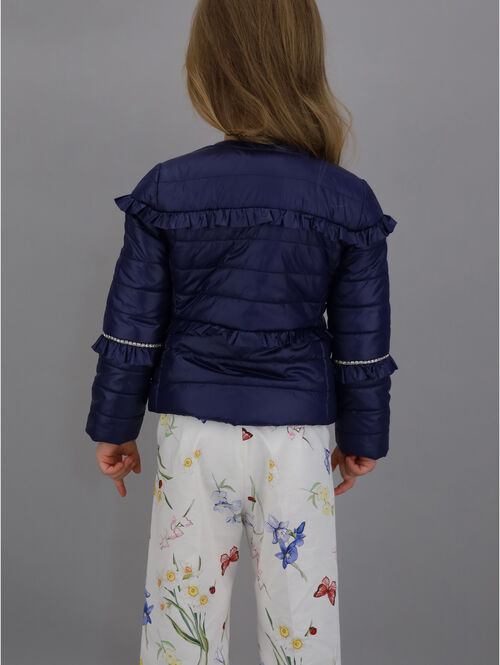 Super-soft jacket with rhinestones
