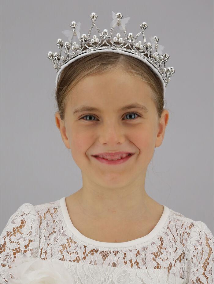 Rhinestones and pearls headband tiara