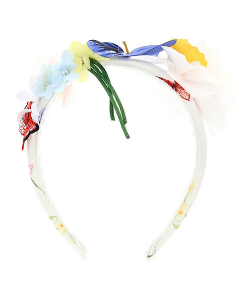 Hairband with floral appliqué