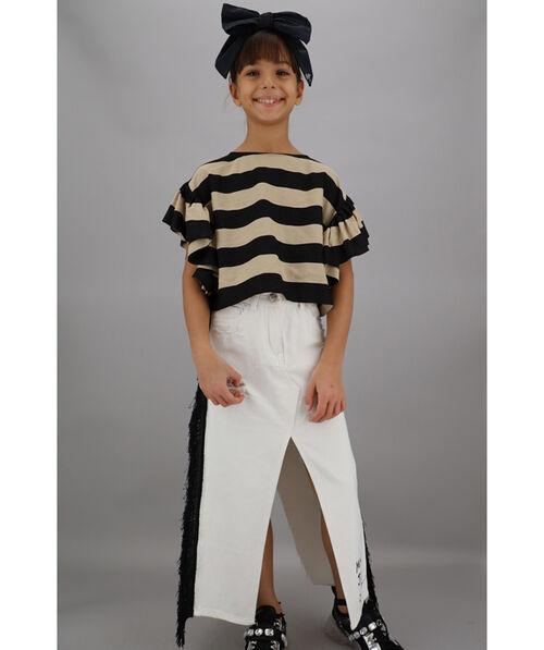 Stretch drill skirt