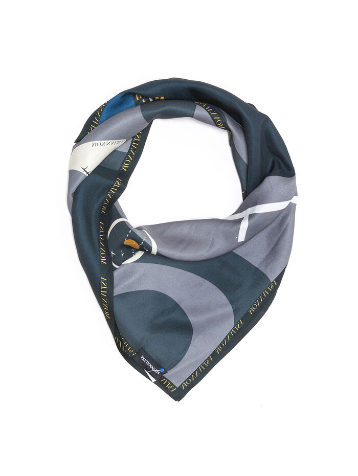 Scarf with tennis print