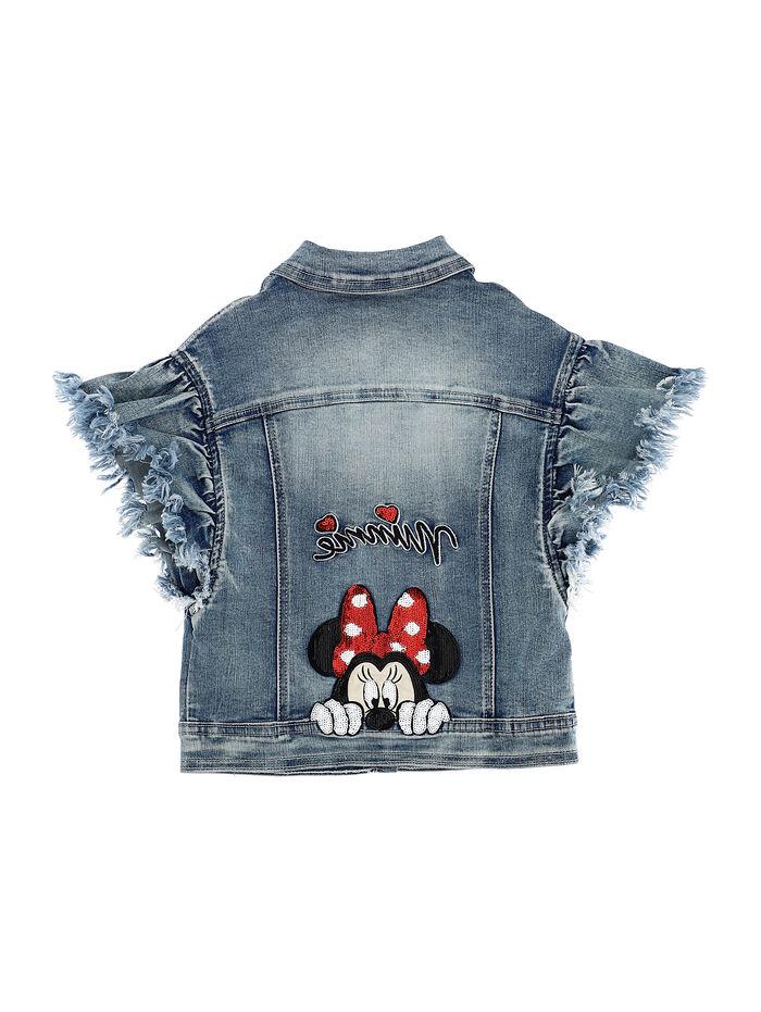 Denim jacket with sequins