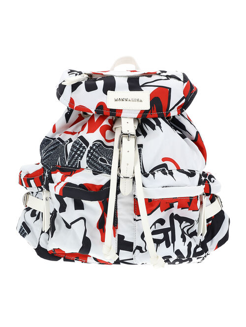 Nylon backpack with graffiti