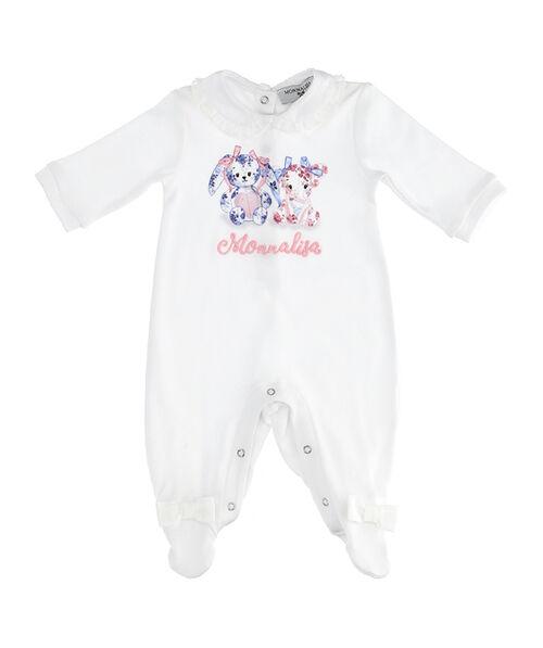 Newborn baby cotton onesie with little animals and bows
