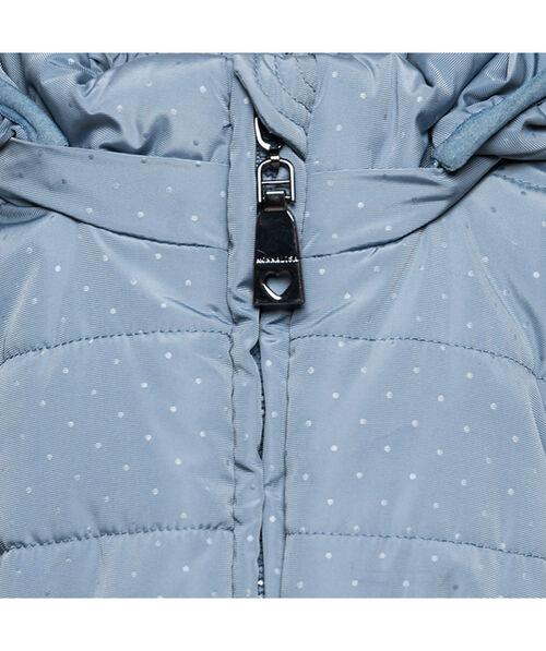 Polka dot padded coat
