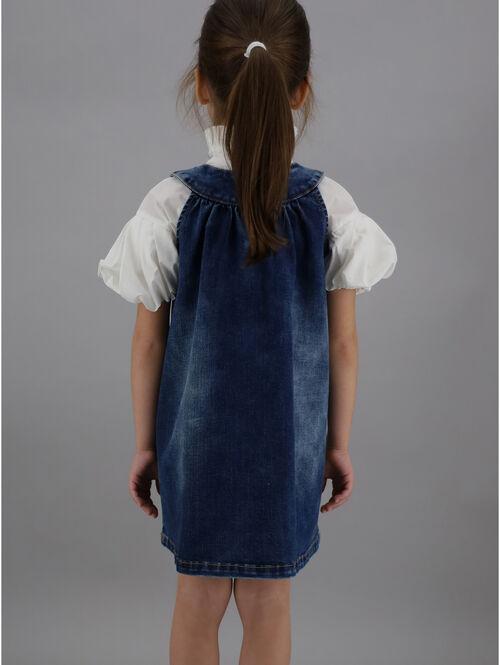 Washed denim dress