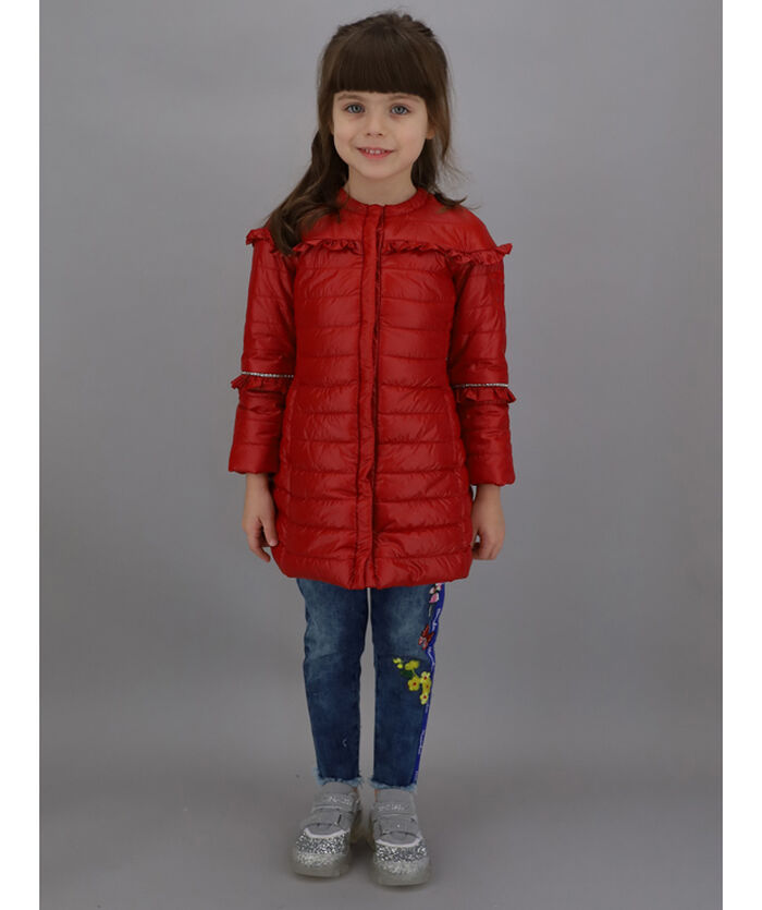 Super-lightweight jacket w/ rhinestones