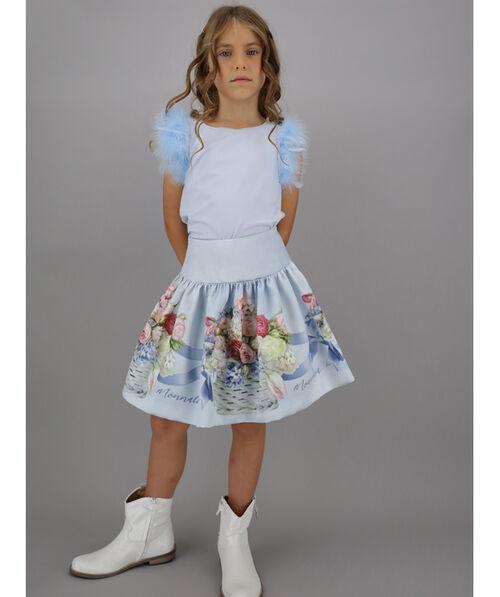 Printed Mikado skirt