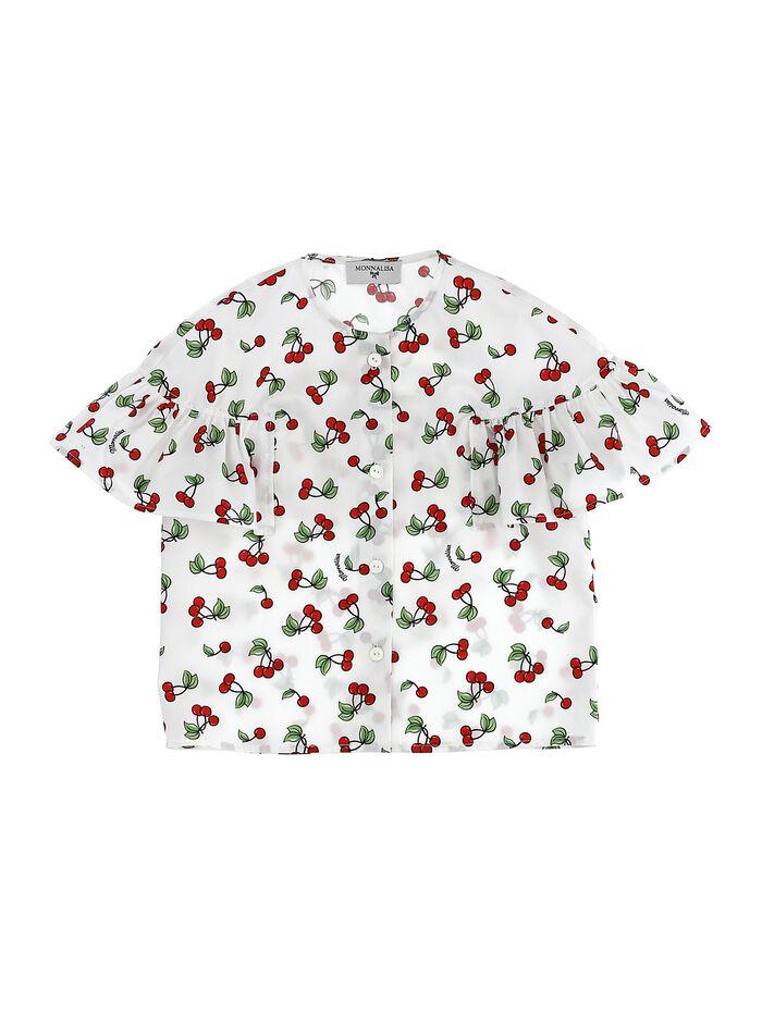 Printed shirt with trim