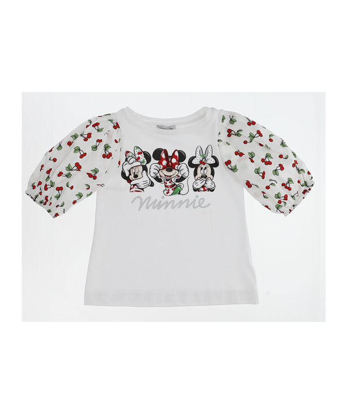T-shirt with cotton sleeves