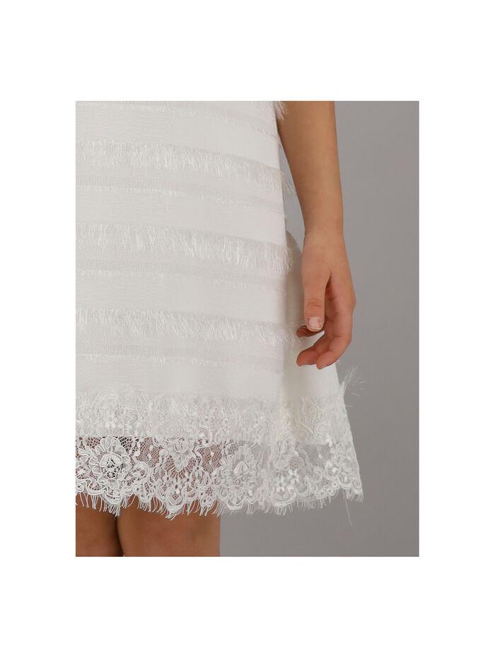 Crêpe and lace dress