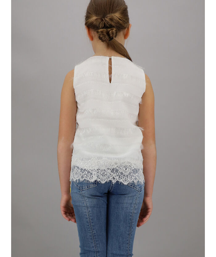 Crêpe and lace top