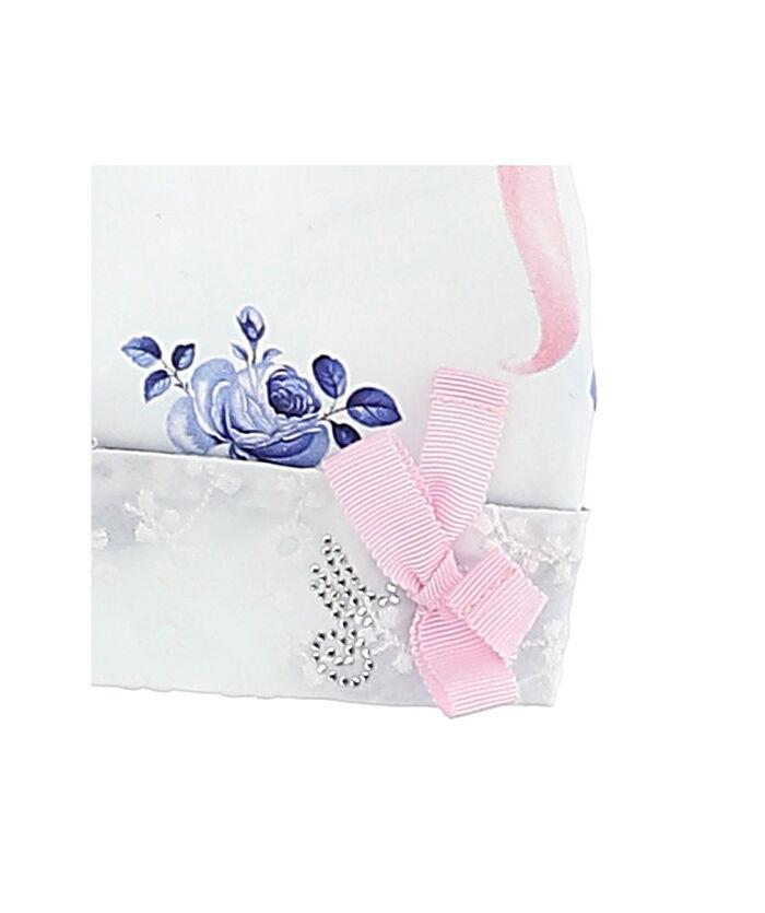Baby bandana with blue roses