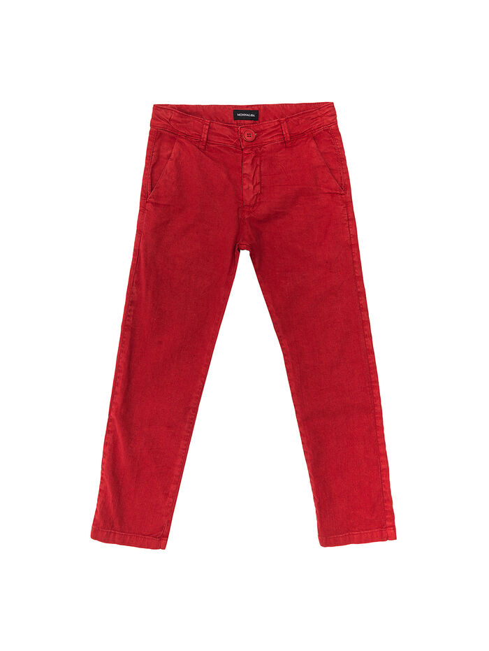 Mixed linen trousers