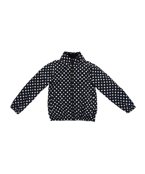 Polka dot nylon windbreaker