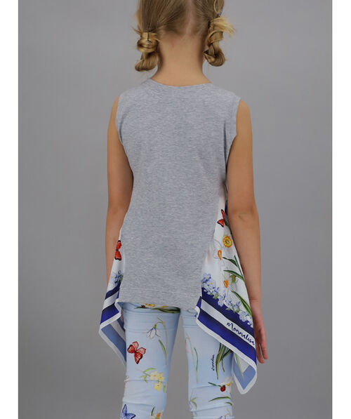Vest with silk inserts