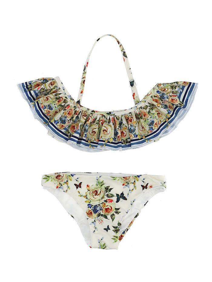 Girl bikini w/romantic print