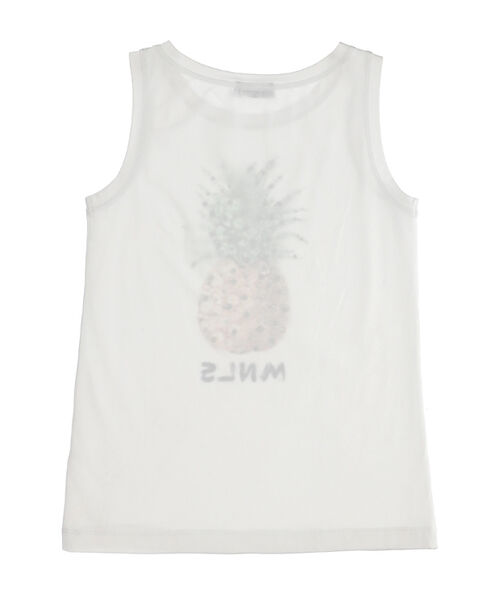 Pineapple print jersey tank top
