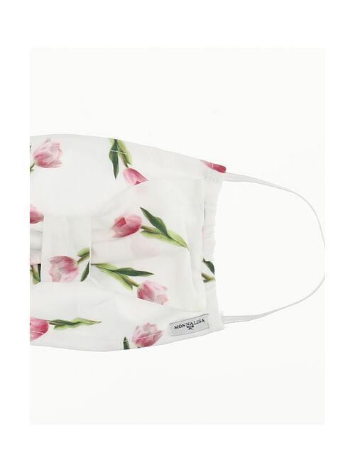 Mascherina con fiocco, tulipani