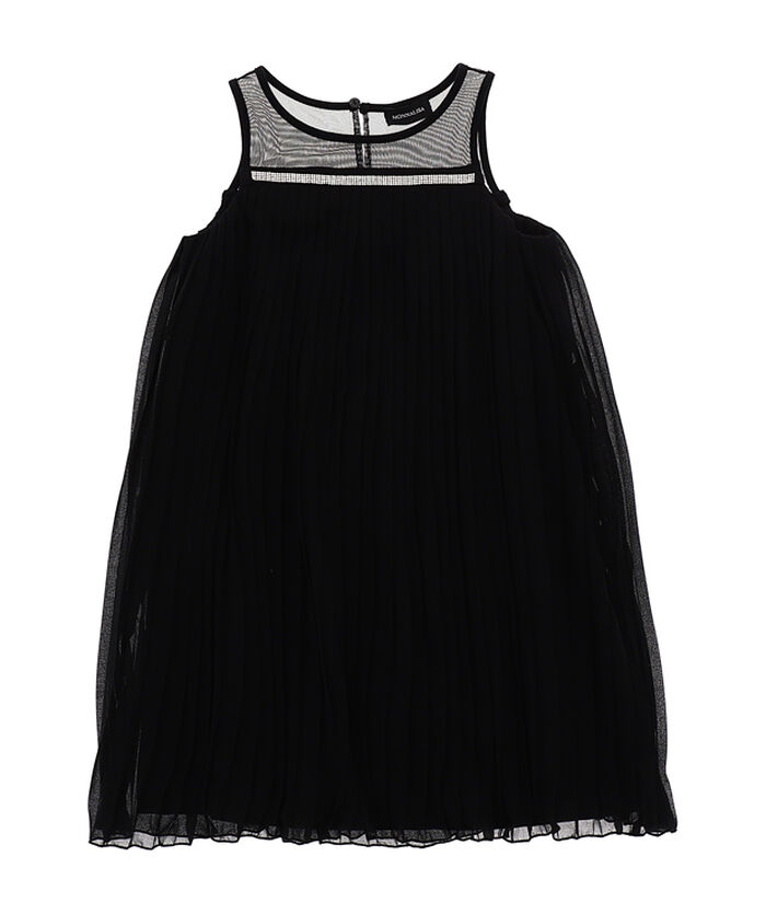 Pleated georgette pinafore