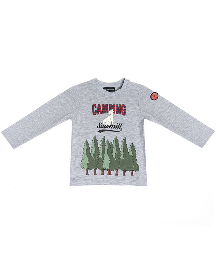 Camiseta bebé bosque