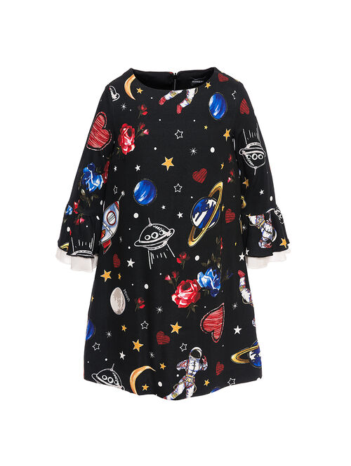 Cady dress with galaxy print