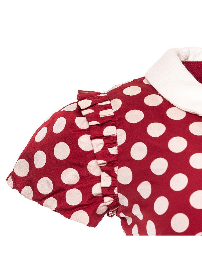 Taffeta polka dot dress