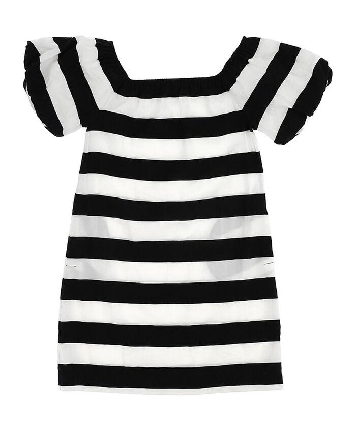 Striped viscose dress