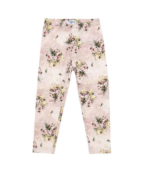 Flower print jersey leggings