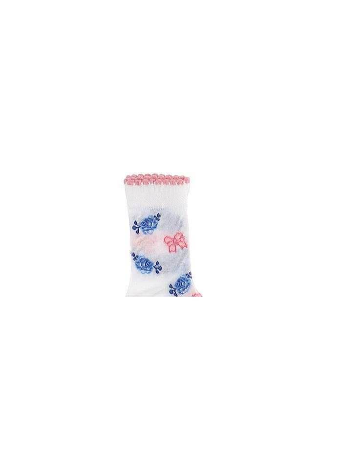 Baby socks set blue roses