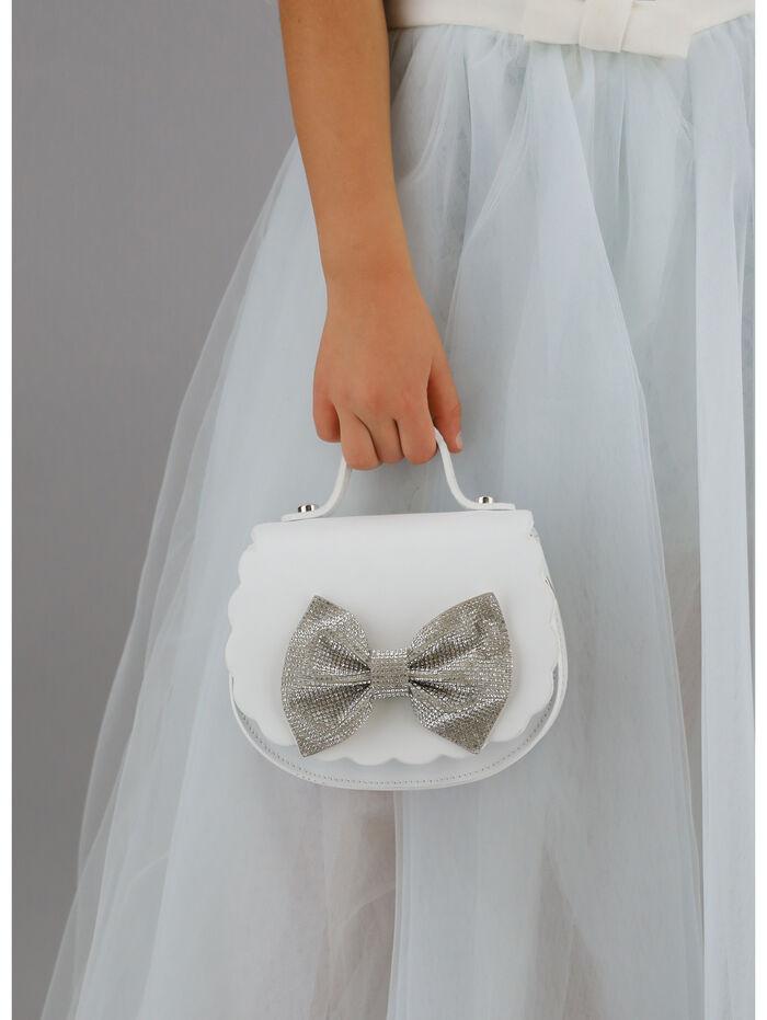 Rhinestones maxi bow bag