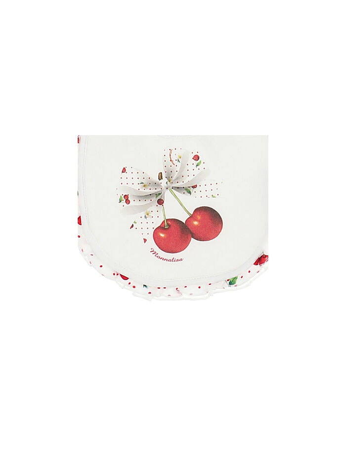 Cherries baby bib