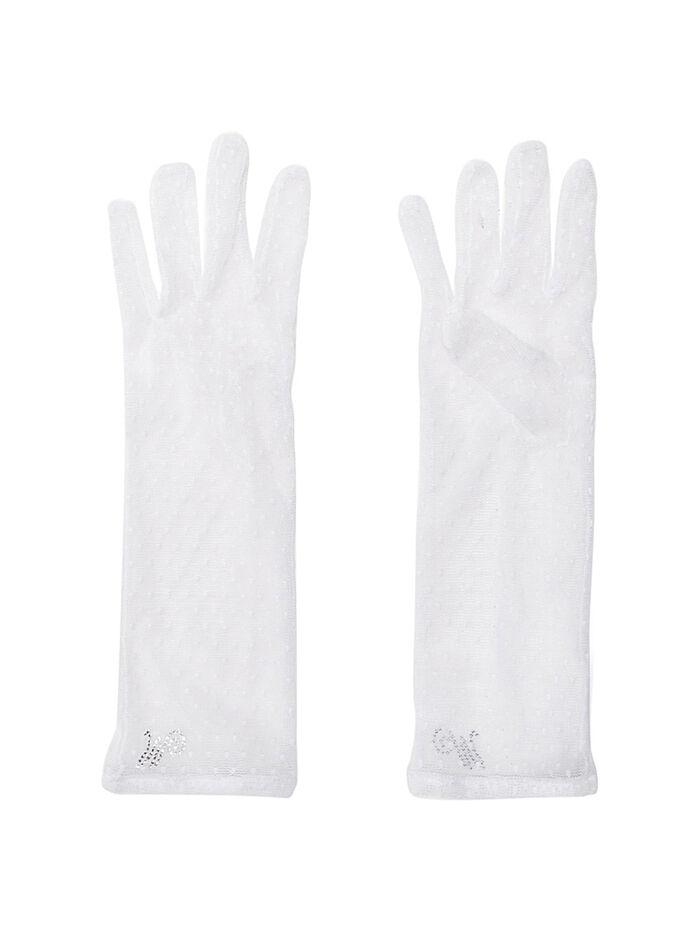 Длинные перчатки из фатина