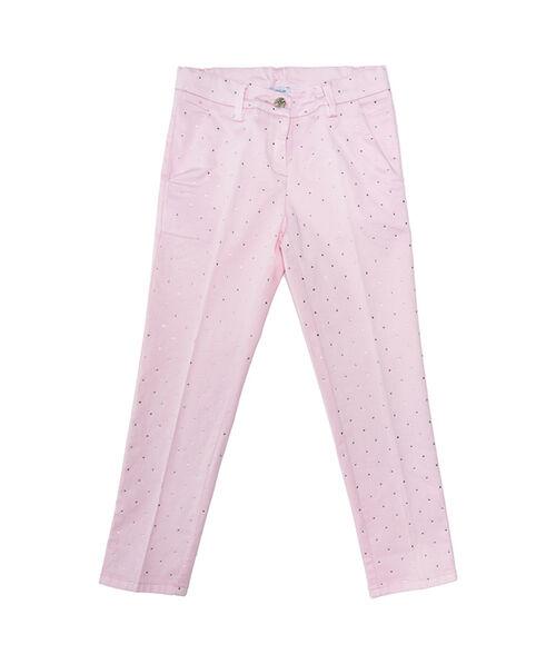 Сатиновые брюки со стразами