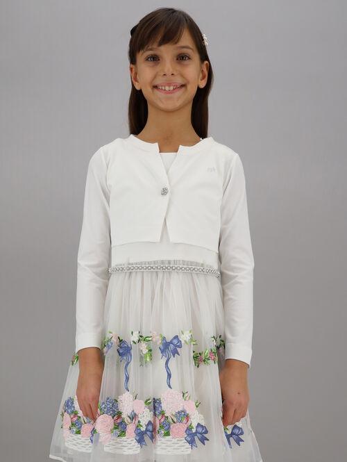 Cotton jersey cardigan