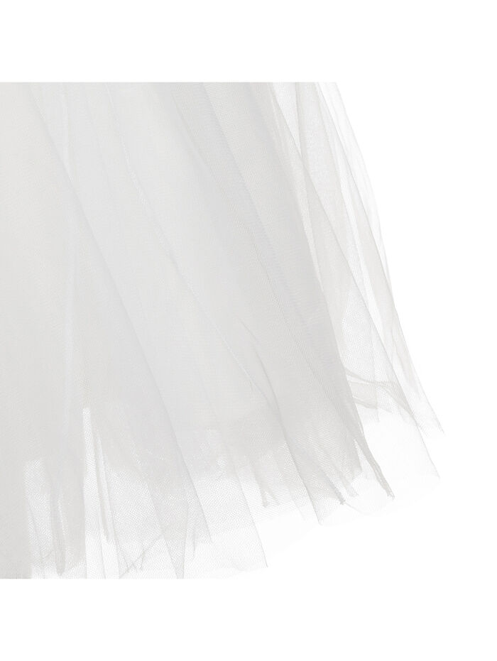 Tulle skirt with a logo