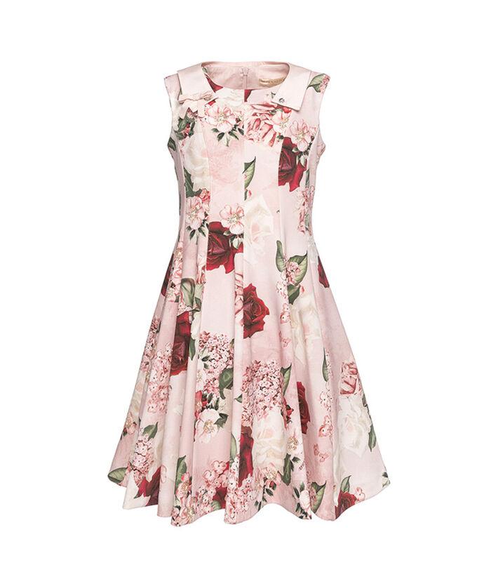 Платье из ткани со стразами