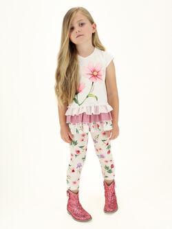 MONNALISA Leggings Bambina Tartan in Jersey di Cotone 1144154662