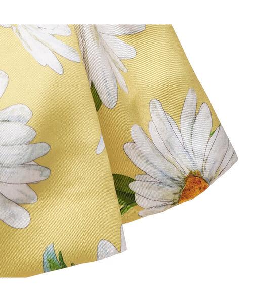 Vestido mikado con margaritas